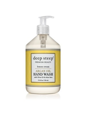 Argan Oil Hand Wash Lemon Cream 17.6oz - Front