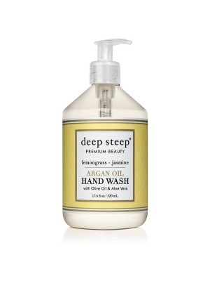 Argan Oil Hand Wash Lemongrass Jasmine 17.6oz - Front
