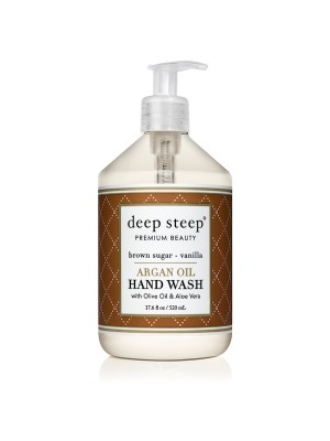 Argan Oil Hand Wash Brown Sugar Vanilla 17.6oz - Front