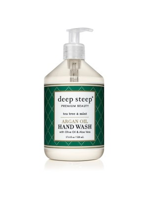 Argan Oil Hand Wash Tea Tree + Mint 17.6oz - Front