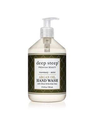 Argan Oil Hand Wash Rosemary Mint 17.6oz - Front