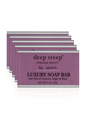 Luxury Soap Bar - Set Of 5 Fig Apricot - Front