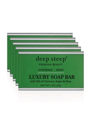 Luxury Soap Bar - Set Of 5 Rosemary Mint - Front